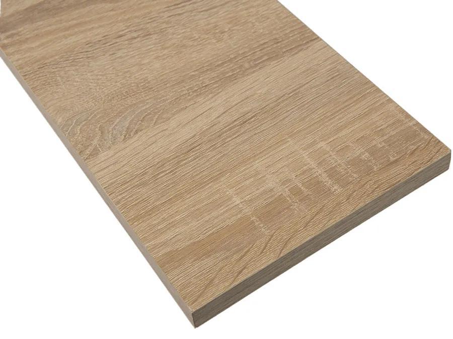Polita simpla din PAL, 100x25x1,8 cm, Stejar