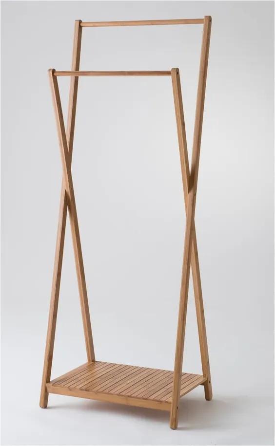Suport din bambus pentru haine Compactor Range Wood