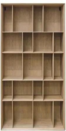 Biblioteca maro din MDF 90x36x176,5 cm Bibli