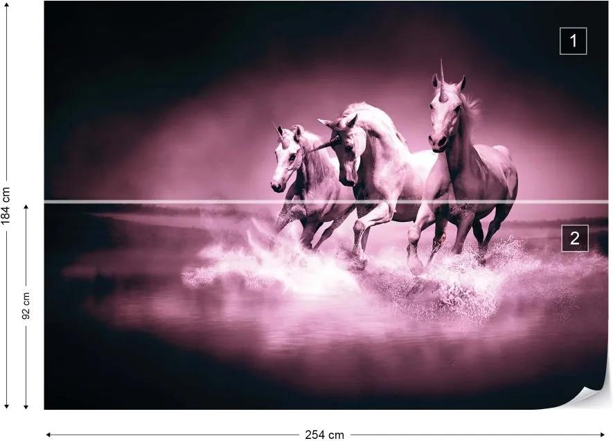 Fototapet GLIX - Unicorns Horses 2 + adeziv GRATUIT Tapet nețesute - 254x184 cm