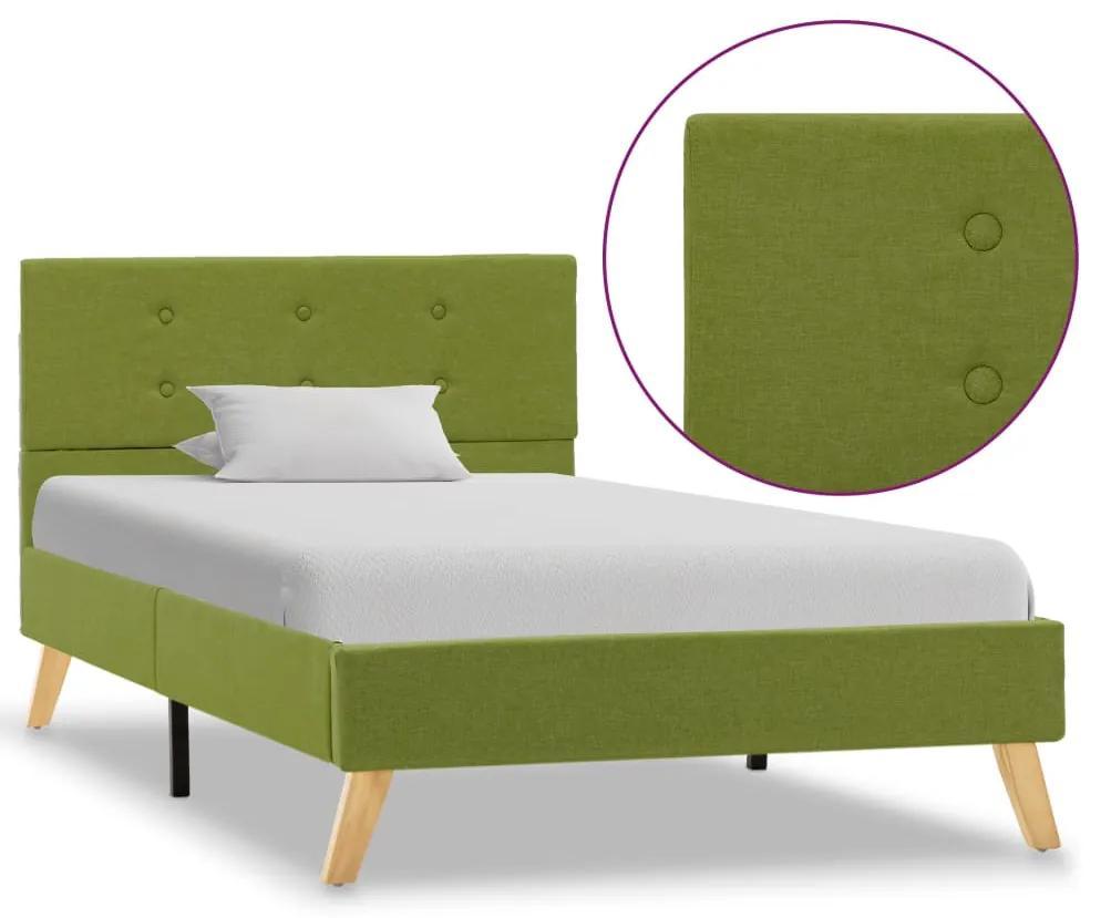 284829 vidaXL Cadru de pat, verde, 100 x 200 cm, material textil