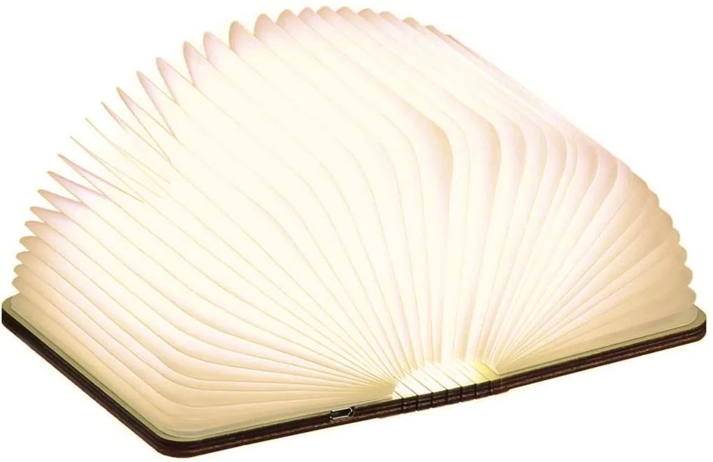 """Lampă pliabilă """"Smart Book"""" mini, nuc - Gingko"""