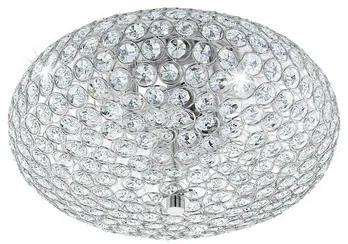 Plafoniera Clemente E27 max. 2x60W, crom/cristale