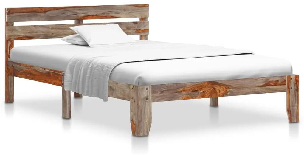 288410 vidaXL Cadru de pat, 120 x 200 cm, lemn masiv de sheesham