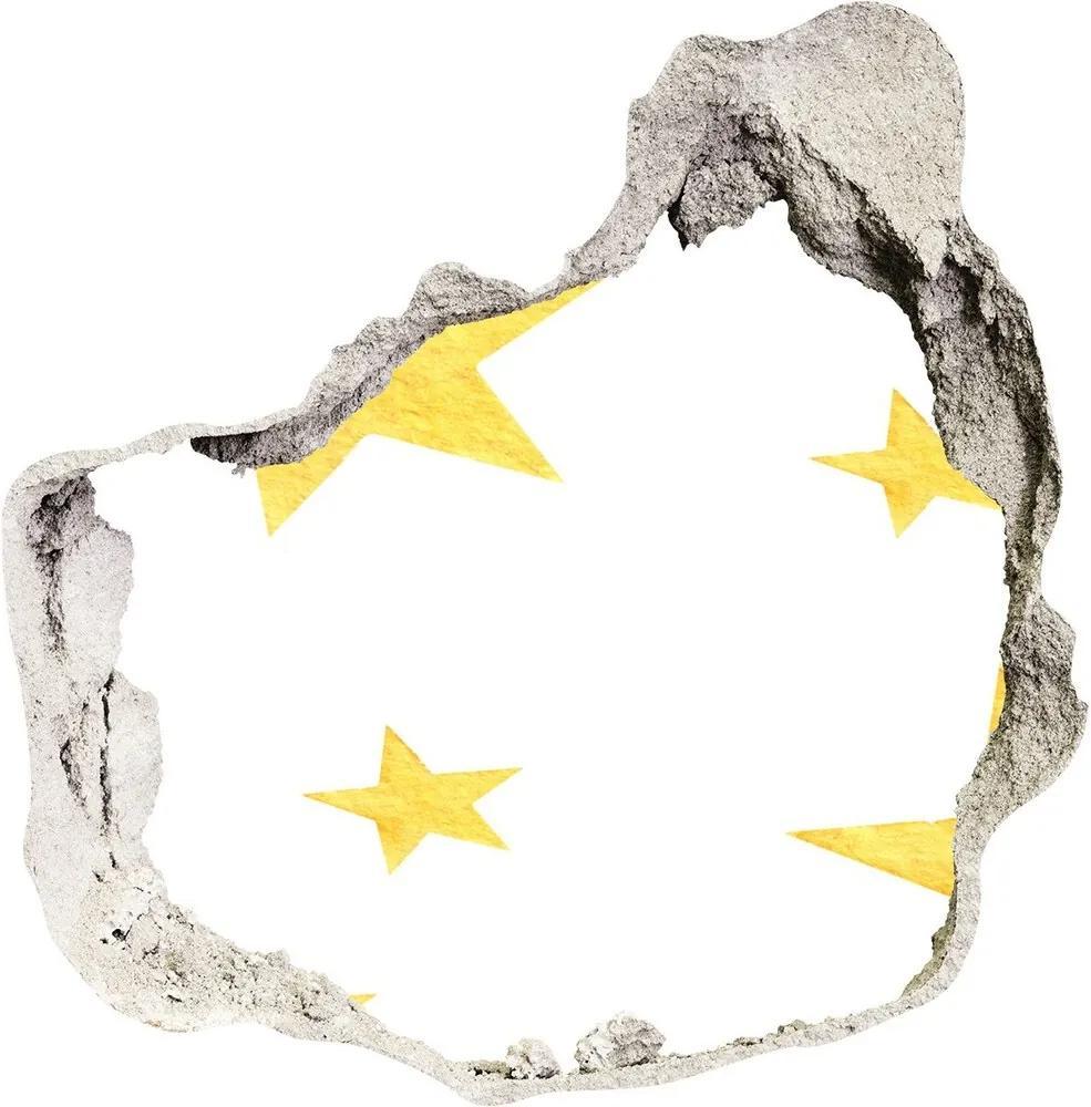 Autocolant un zid spart cu priveliște Stele galbene