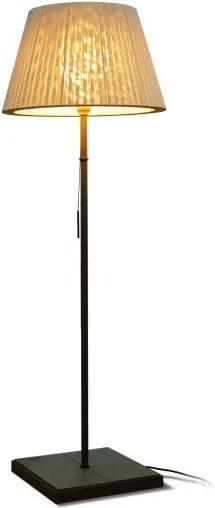 TXL 170 - Lampă de podea cu abajur alb din textil