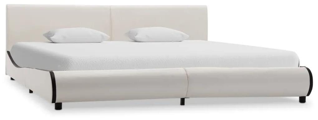 284995 vidaXL Cadru de pat, alb, 180 x 200 cm, piele ecologică