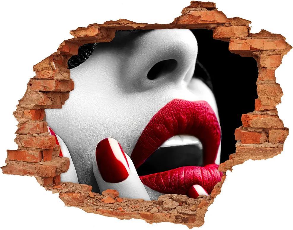 Autocolant un zid spart cu priveliște Masca dantelă