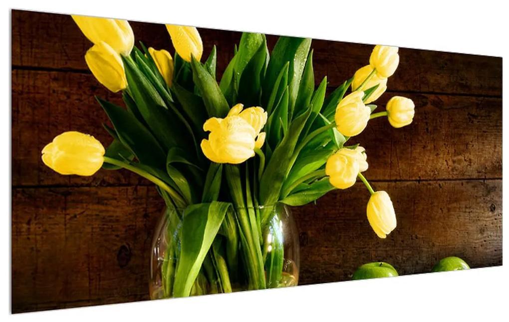 Tablou cu lalele galbene în vază (K012154K12050)