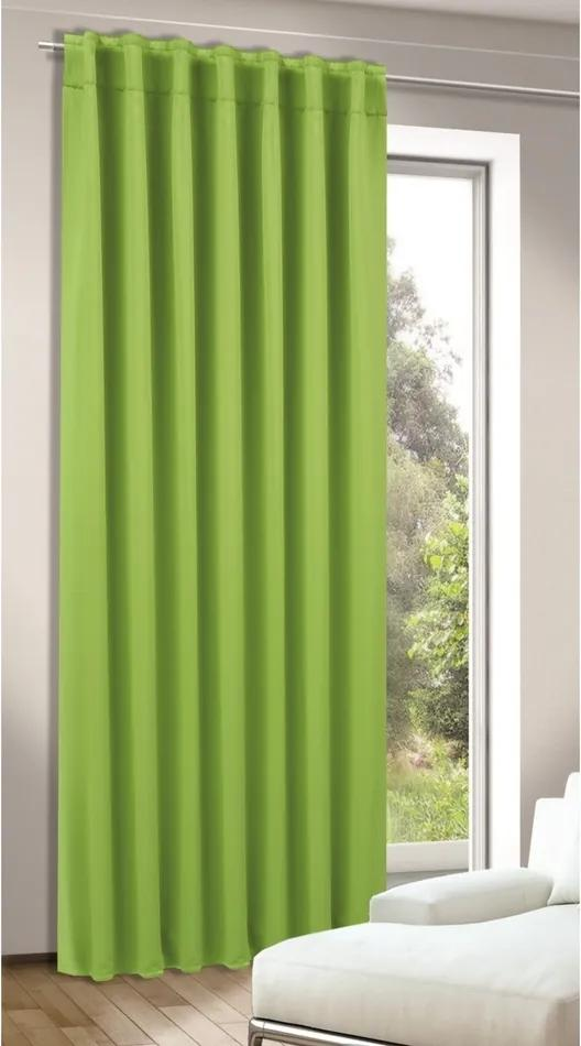 Draperie Tina verde, 245 x 140 cm