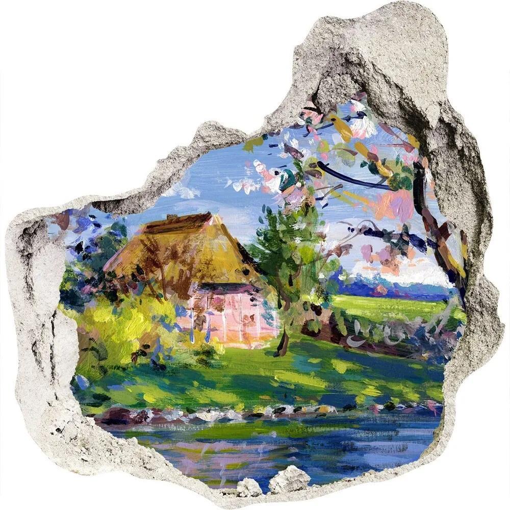 Fototapet un zid spart cu priveliște Peisaj de primăvară