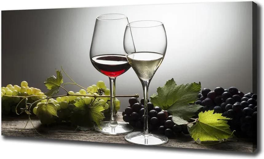 Pictură pe pânză Vin și struguri