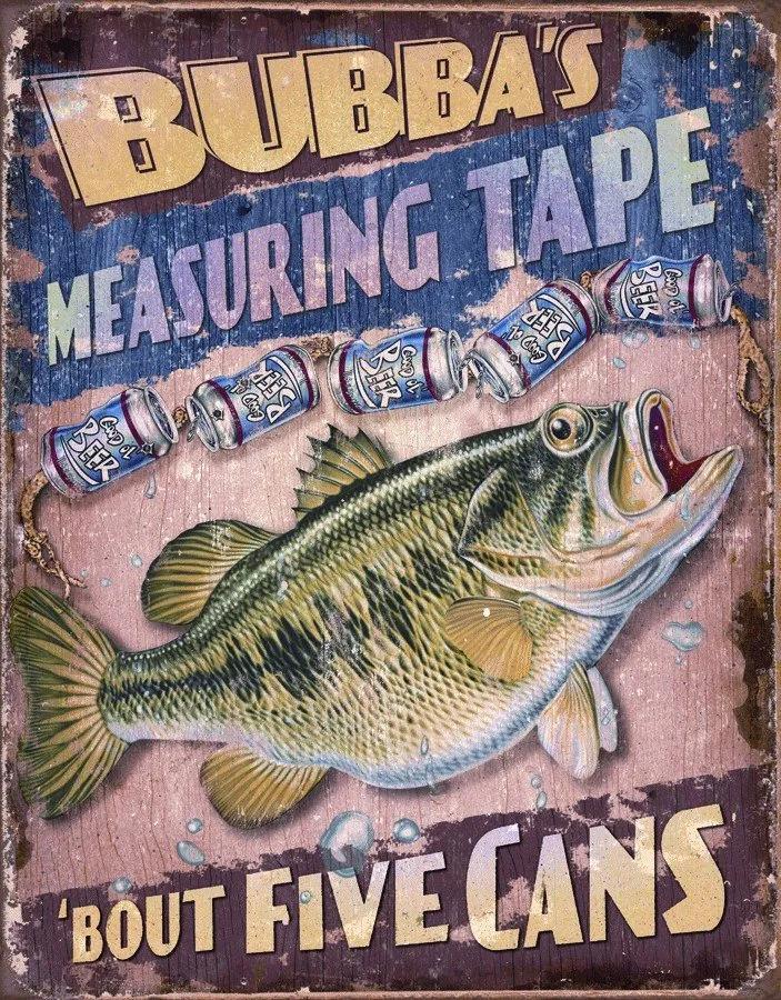 Placă metalică - BUBBAS Measuring Tape