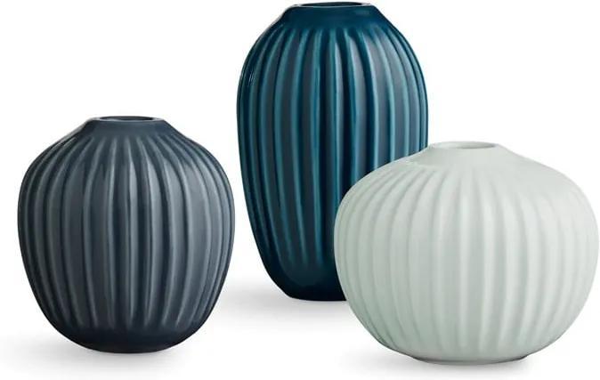 Set 3 vaze din gresie ceramică Kähler Design Hammershoi Miniature Cold Palette
