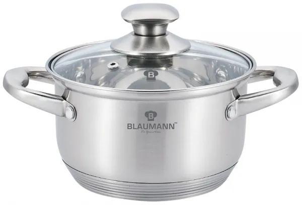 Oala cu capac otel inoxidabil 20 cm Satin Gourmet Line Blaumann BL 3319