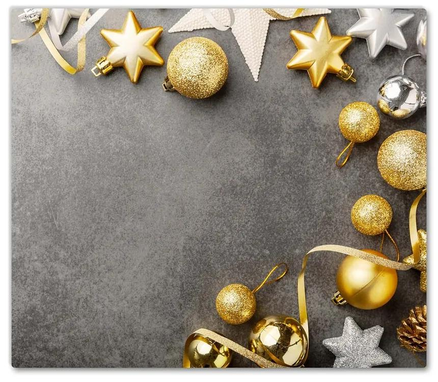 Tocator din sticla Bujoruri de Crăciun Golden Stars