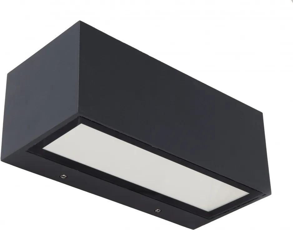 Lutec 5189101118 Aplice pentru iluminat exterior GEMINI gri închis aluminiu Lextar 2835 1230lm 4000K IP54 A+