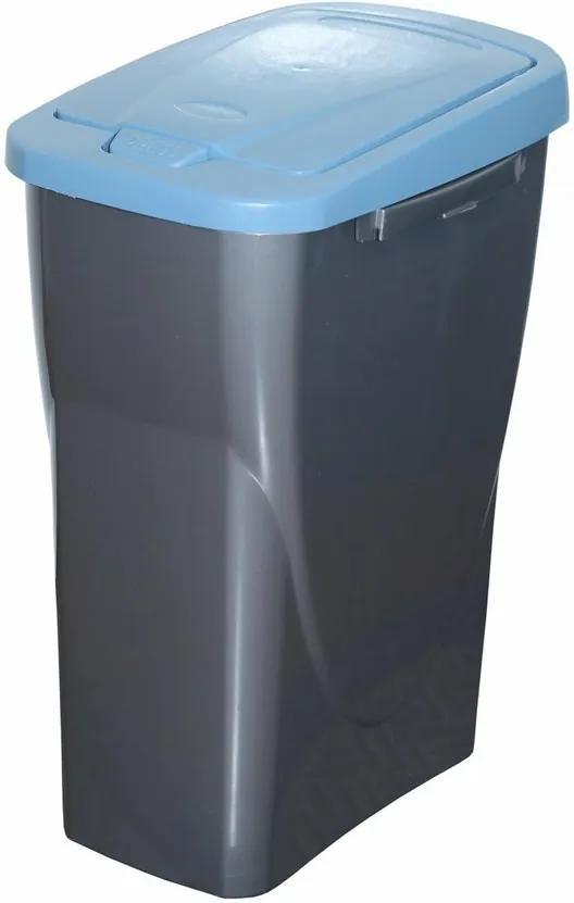 Coş de sortare deşeuri, 51 x 21,5 x 36 cm, capac albastru, 25 l