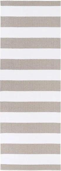 Covor potrivit pentru exterior Narma Birkas, 70 x 350 cm, maro - alb