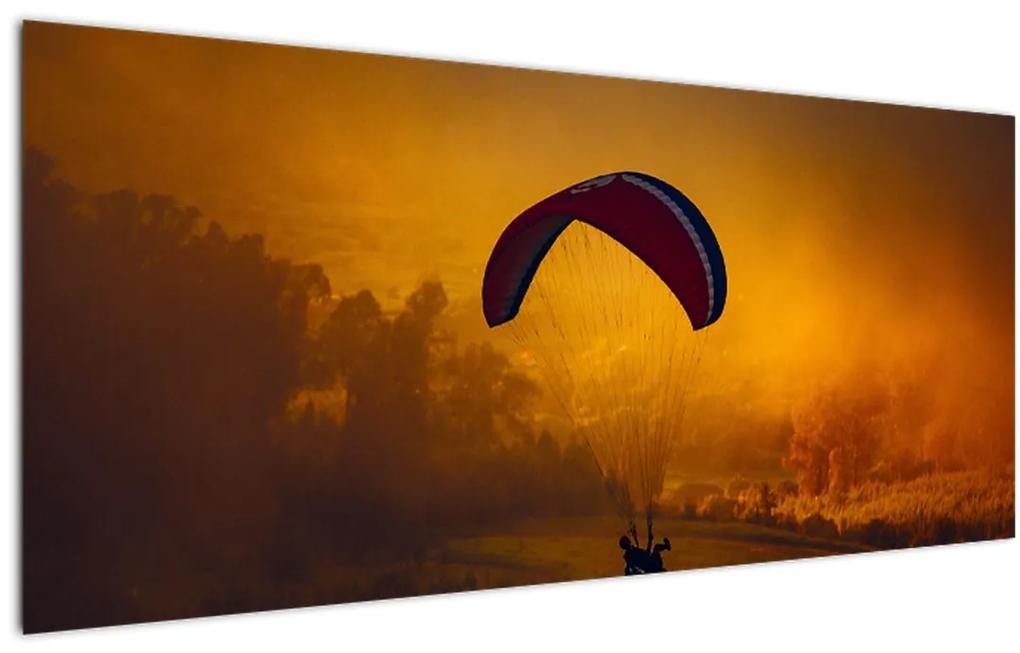 Tablou cu parașutistul în apus de soare (120x50 cm), în 40 de alte dimensiuni noi