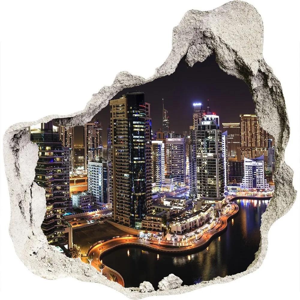 Autocolant de perete gaură 3D Marina in Dubai