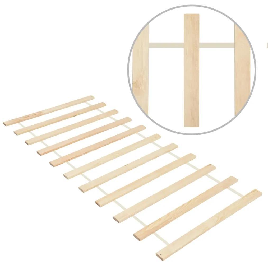 285777 vidaXL Bază de pat rulabilă cu 11 șipci, 80x200 cm, lemn masiv de pin