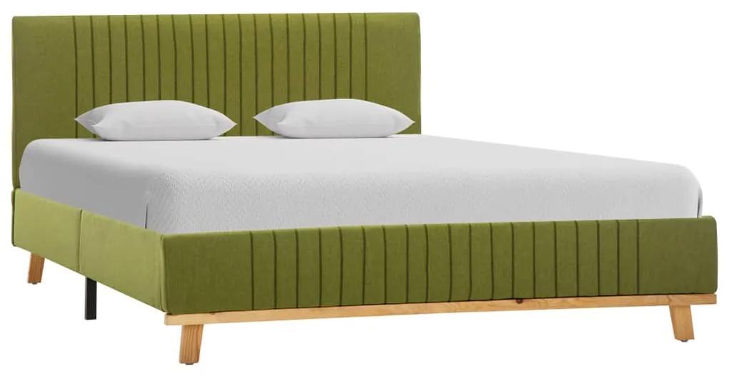 286639 vidaXL Cadru de pat, verde, 120 x 200 cm, material textil