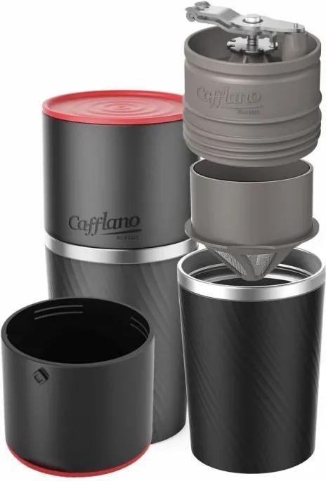 Aparat de cafea de voiaj Cafflano Classic (negru) + râșniță