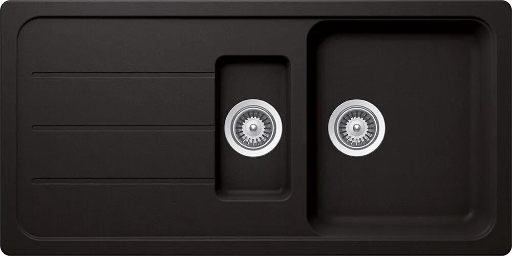 Chiuveta Granit Schock Formhaus D-150L Nero Cristalite 1000 x 500 mm