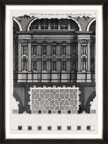 Tablou Framed Art L`architecture Francais By Marot II