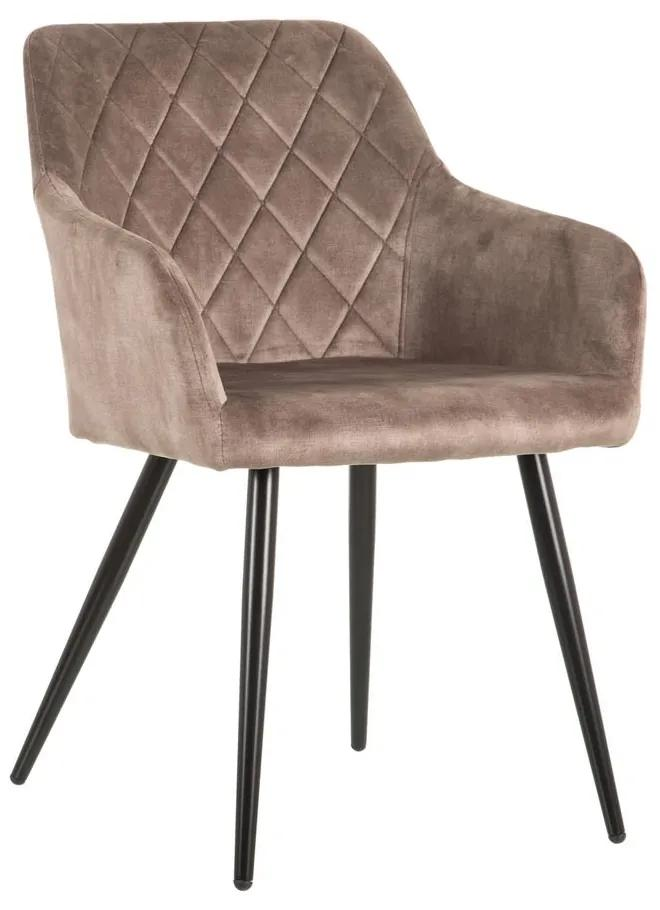 Scaun dining din textil bej Taupe Fabric Chair
