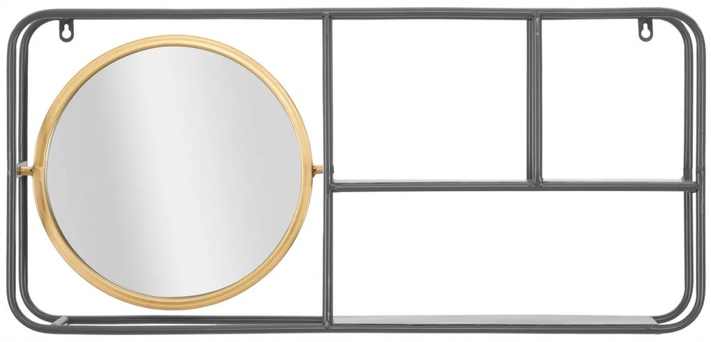 Oglinda rotunda cu rafturi INDUSTRY CM 74,5X12X35, Mauro Ferretti