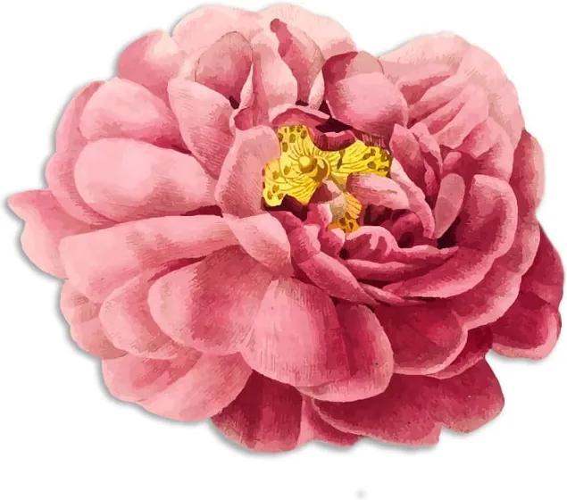 Suport din fibră de iută pentru farfurii Madre Selva Pink Flower