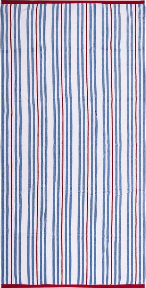 Prosop de plajă Ropes albastru, 90 x 170 cm