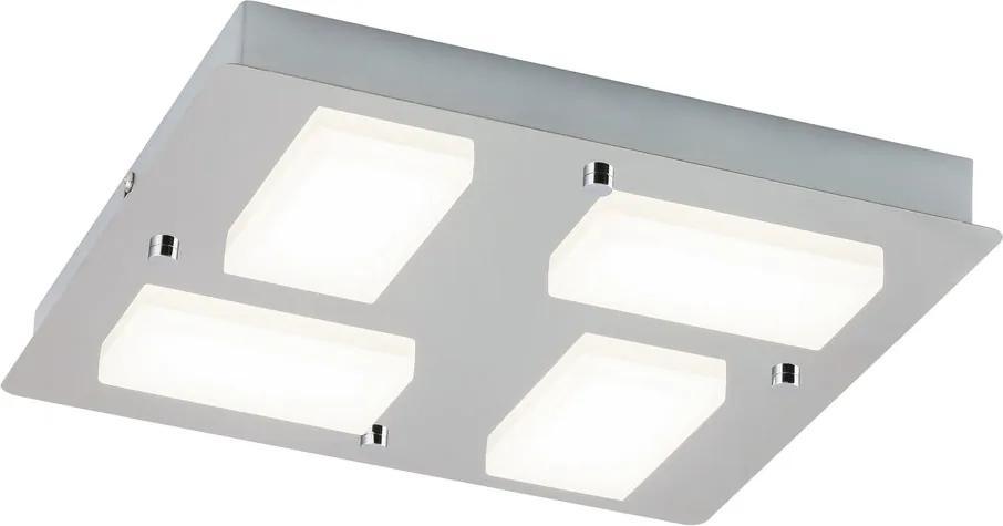 Rábalux Ruben 5725 Plafoniere pentru baie crom alb LED 18W 30 x 30 x 4,1 cm