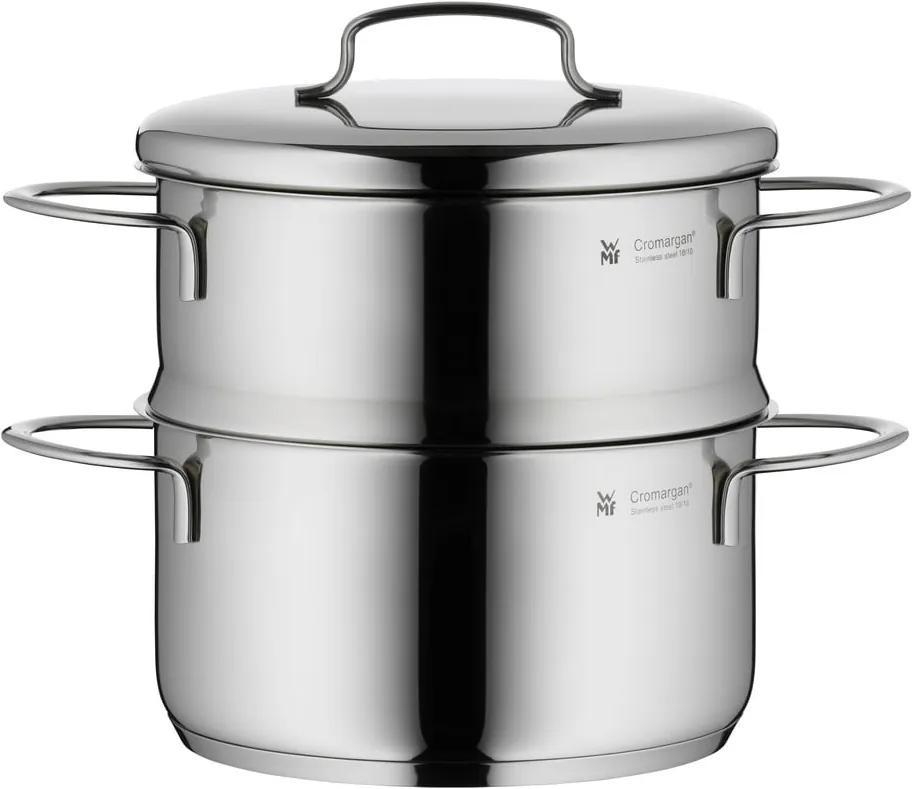 Oală din oțel inoxidabil pentru gătit la aburi, cu capac, WMF Cromargan® Mini, ⌀ 16 cm