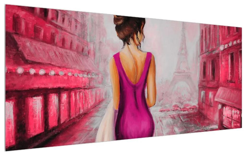 Tablou cu femeie și turnul Eiffel (K014611K12050)
