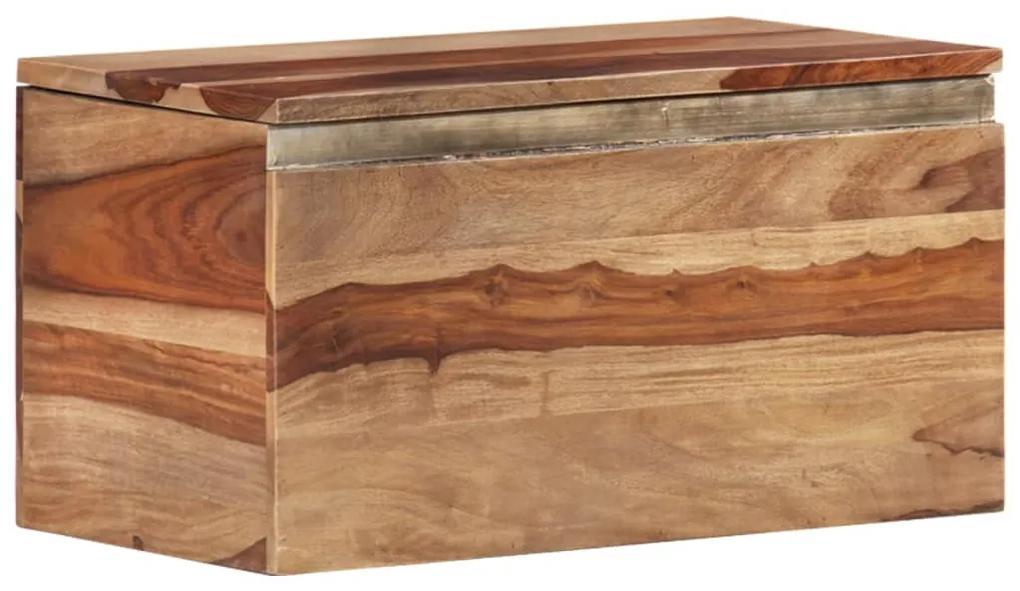 247761 vidaXL Cufăr de depozitare, 30 x 30 x 57 cm, lemn masiv de sheesham