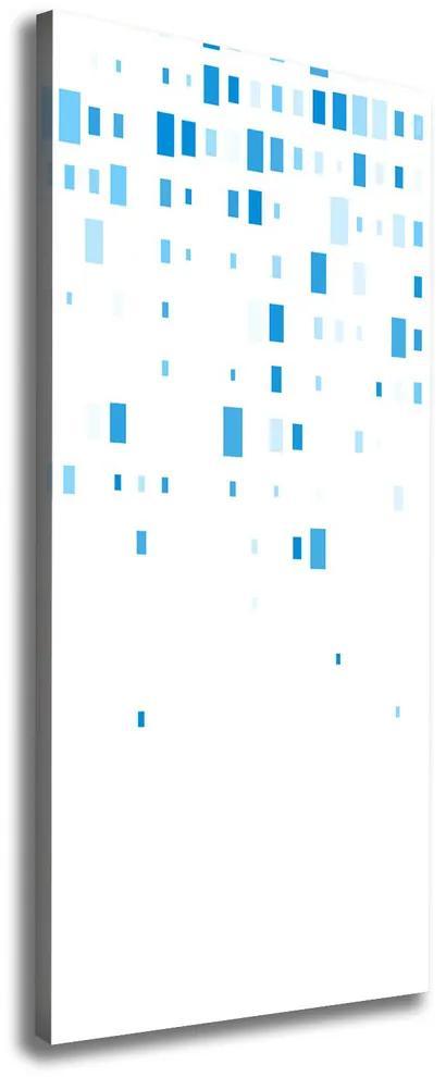 Tablou pe pânză canvas Pătrate albastre
