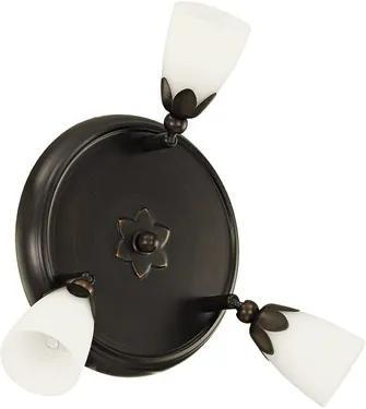 Plafoniera cu spoturi Danielle G9 3x33W, becuri halogen incluse, alb/maro inchis