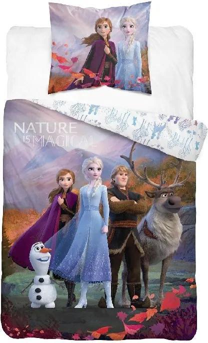 Lenjerie de pat pentru copii Frozen 2 alba