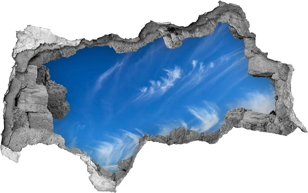 Autocolant 3D gaura cu priveliște Cer albastru