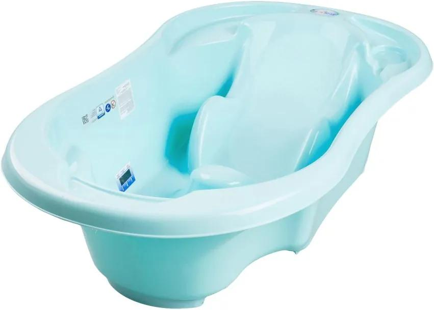 Cadita anatomica Tega Baby cu termometru Komfort Albastru deschis