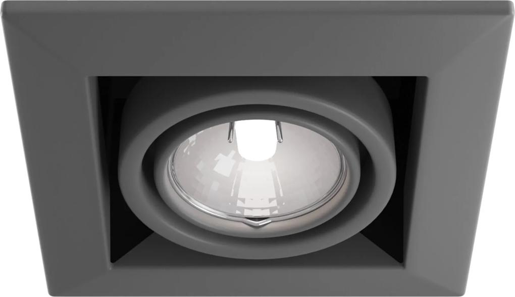 Downlight Patrat Metal Modern Maytoni GU10, Gri, DL008-2-01-S, Germania