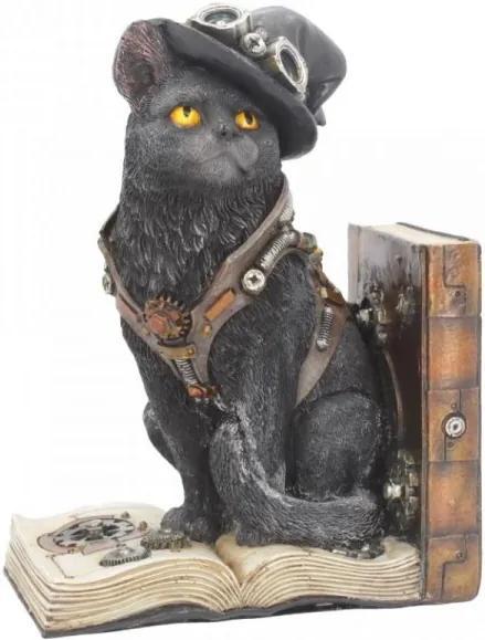 Statueta /Suport carti bufnita pisica Pionierul Torcator 19 cm
