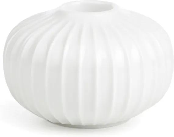 Sfeșnic din porțelan Kähler Design Hammershoi, mediu, alb, ⌀ 8 cm
