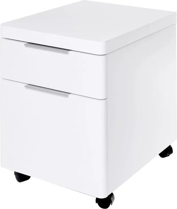 Noptiera Cuuba Libre cu 2 sertare, alb, 52 x 39 cm