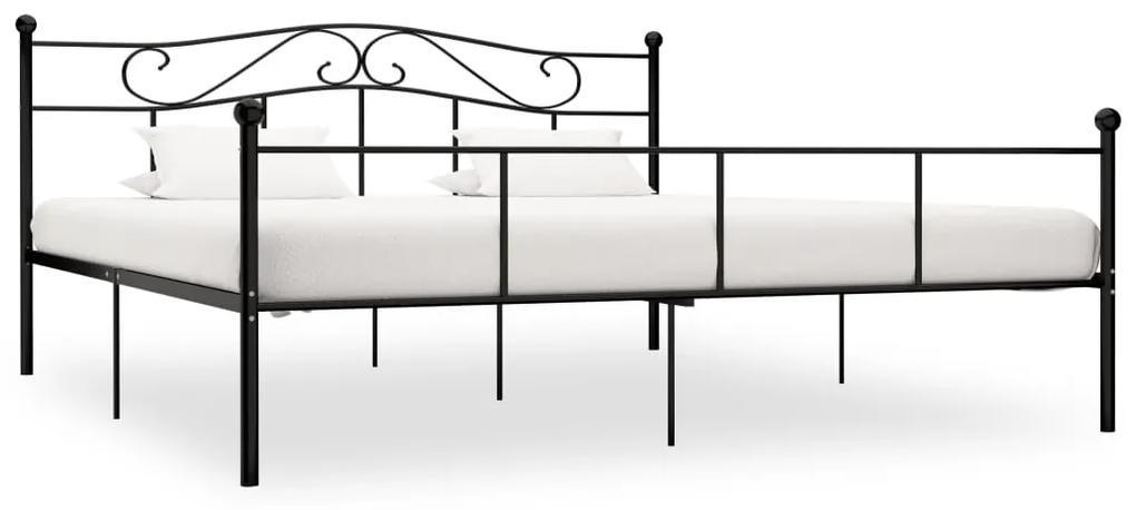 284528 vidaXL Cadru de pat, negru, 180 x 200 cm, metal