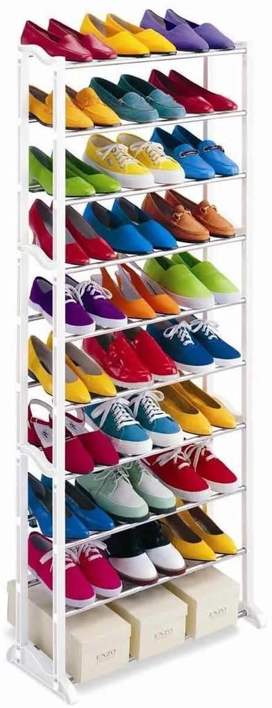 Pantofar cu 10 nivele - alb