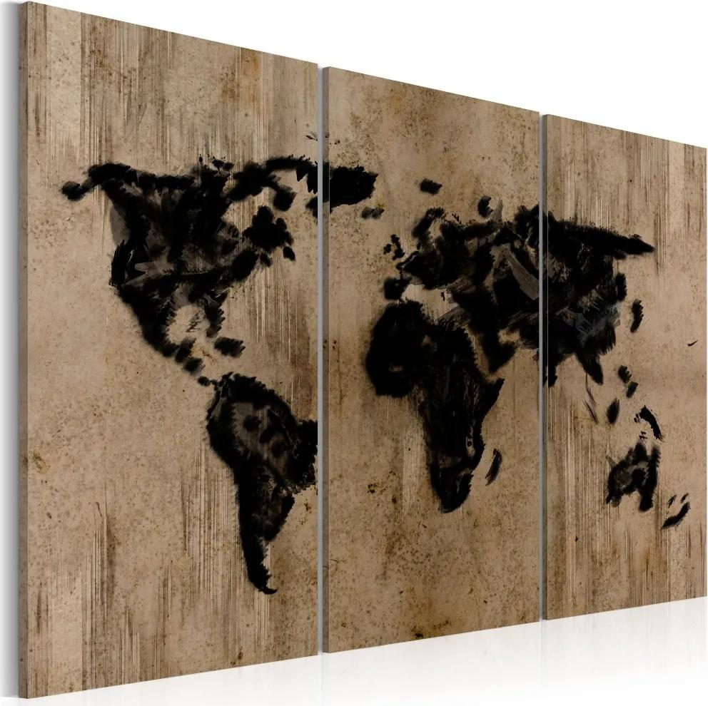 Tablou Bimago - Mysterious map of the World 60x40 cm